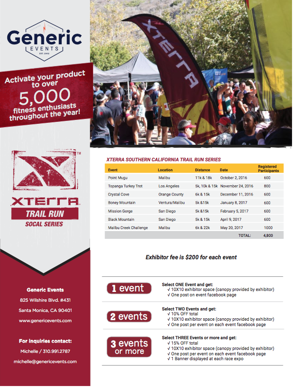 xterra vendor packet generic events